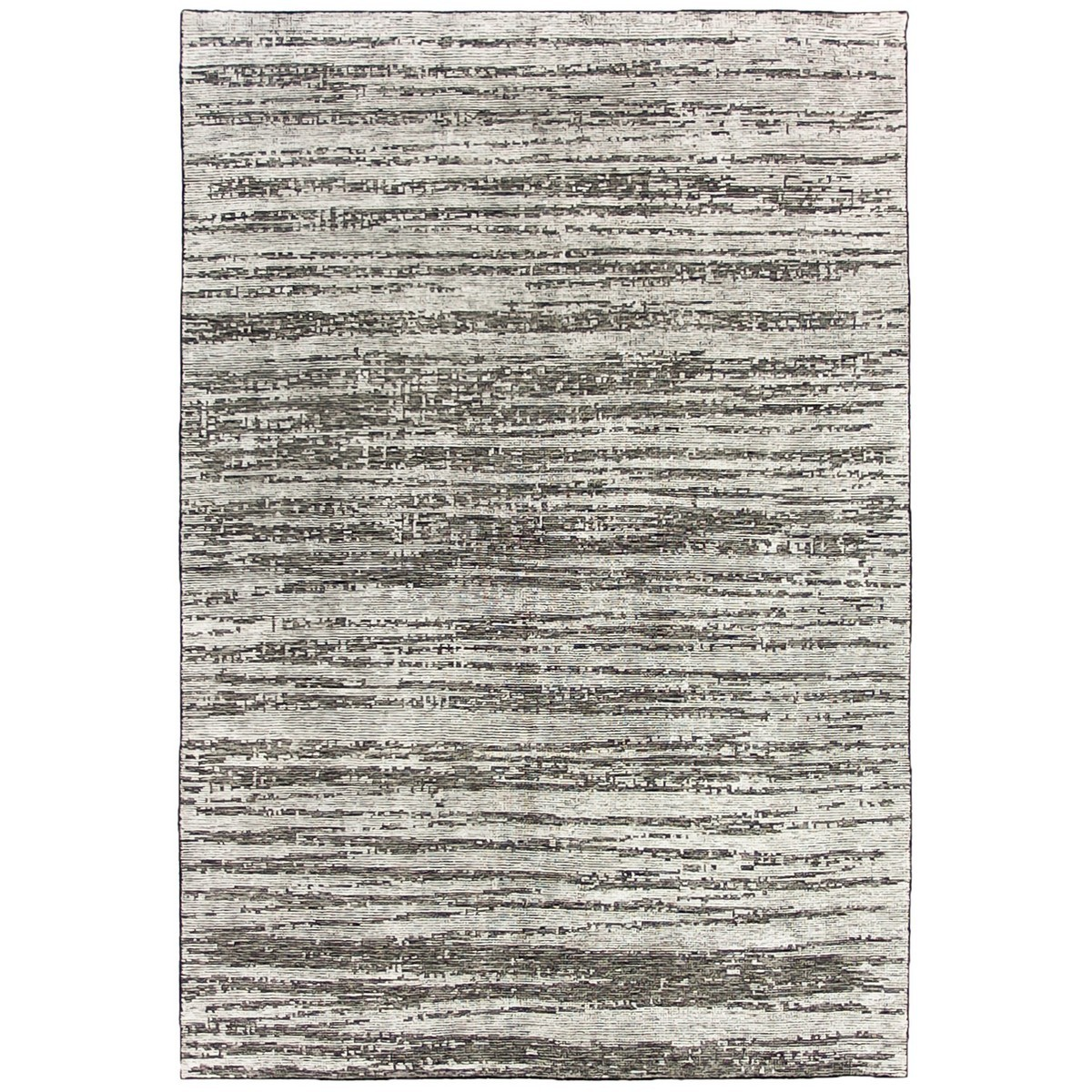Deco Ridges Hand Knotted Wool Rug, 250x300cm, Steel