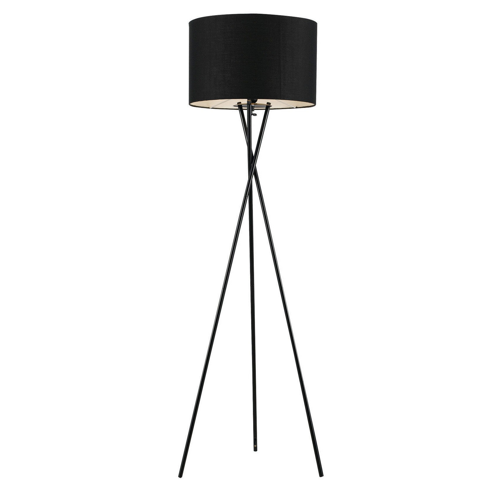 Denise Metal Tripod Floor Lamp, Black