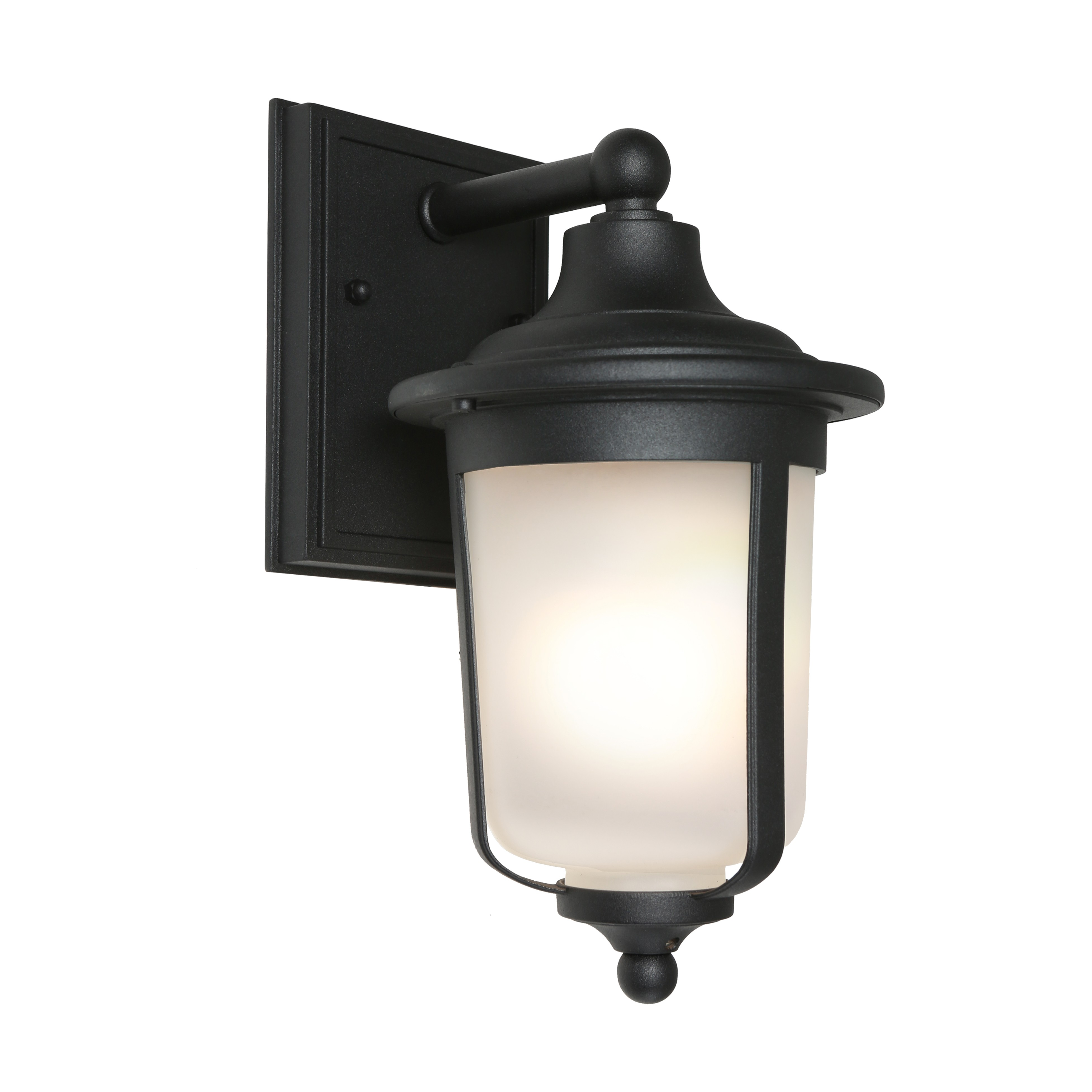 Devon Commercial Grade IP44 Exterior Wall Lantern, Black