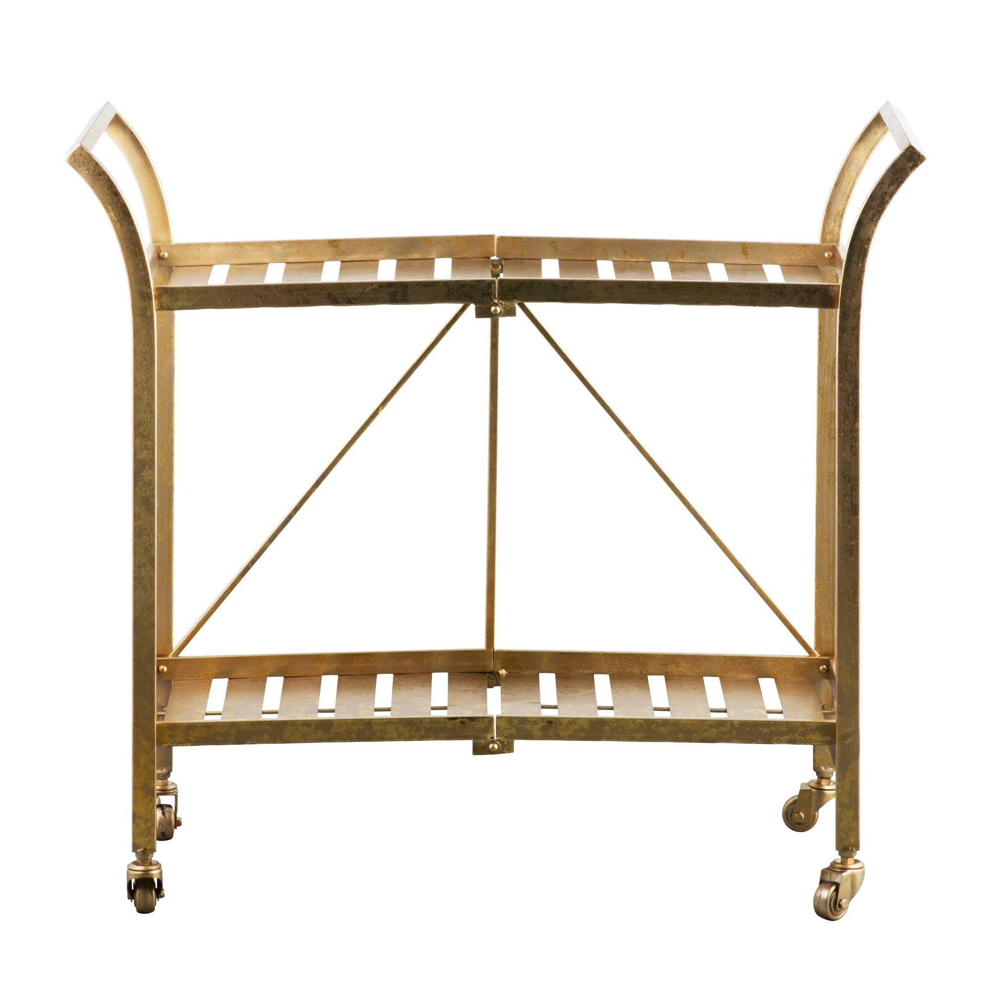 Cleo Foldable Iron Serving Cart