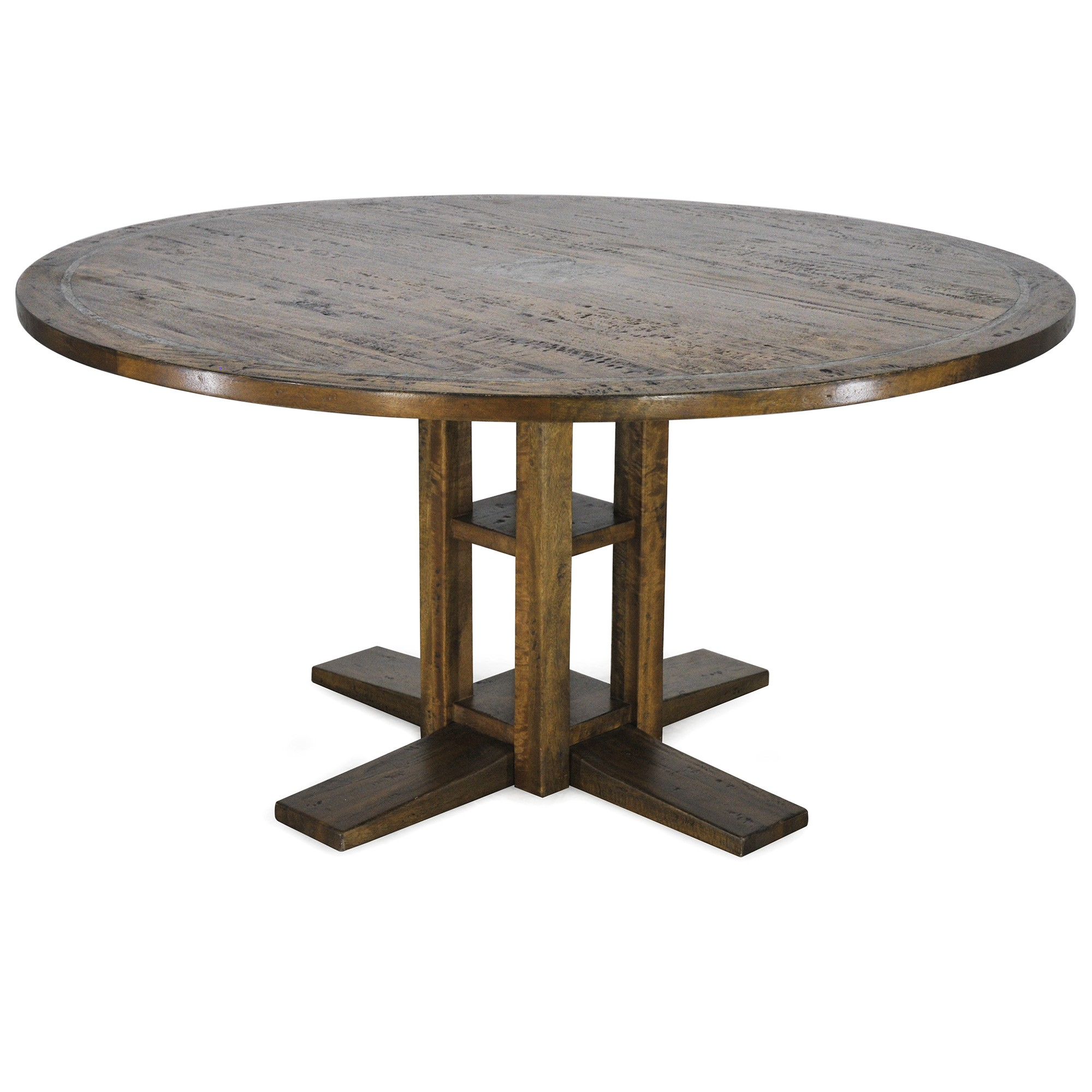 Jersey Mango Wood Round Dining Table, 152cm
