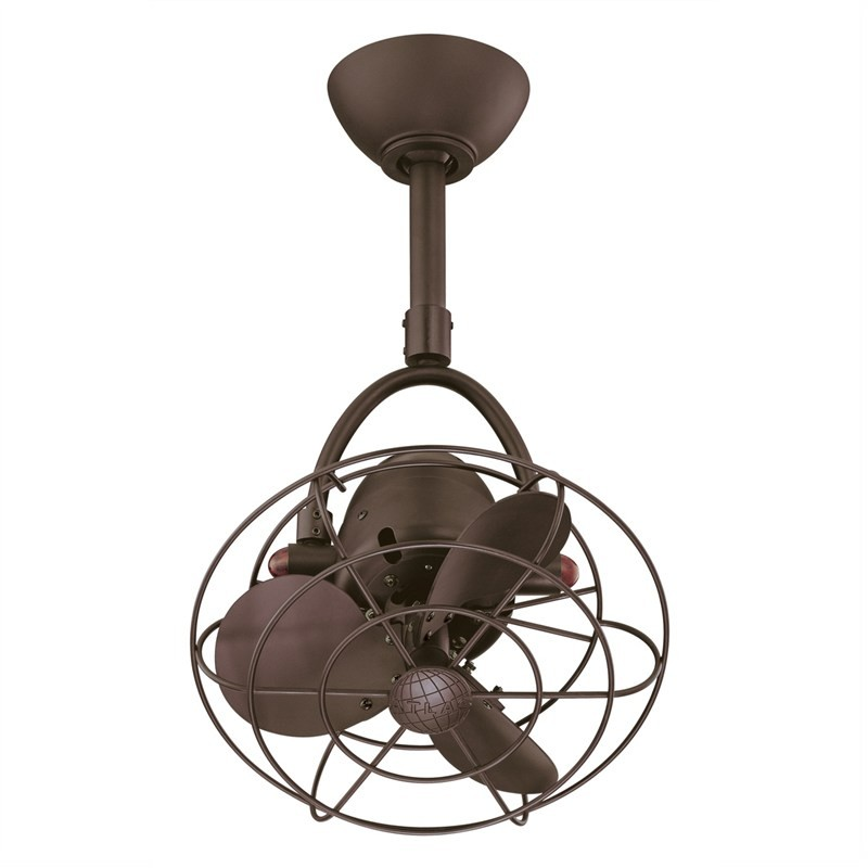 Atlas Diane Commercial Grade Metal Ceiling Fan with Safety Cage -  Bronze