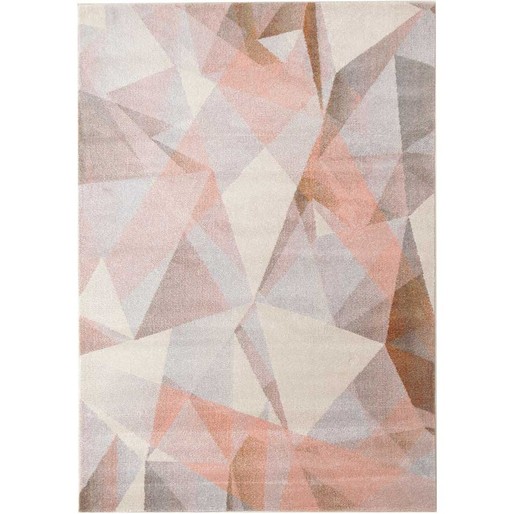 Divinity Shatter Turkish Made Modern Rug, 400x300cm, Blush