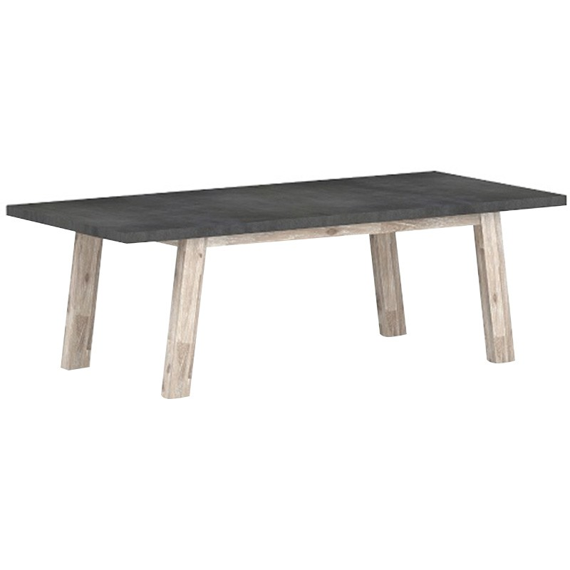 Uptown Concrete & Acacia Timber Dining Table, 240cm