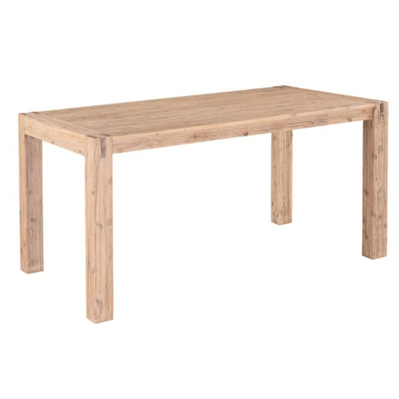 Whimsy Solid Acacia Timber Dining Table, 180cm, Ash