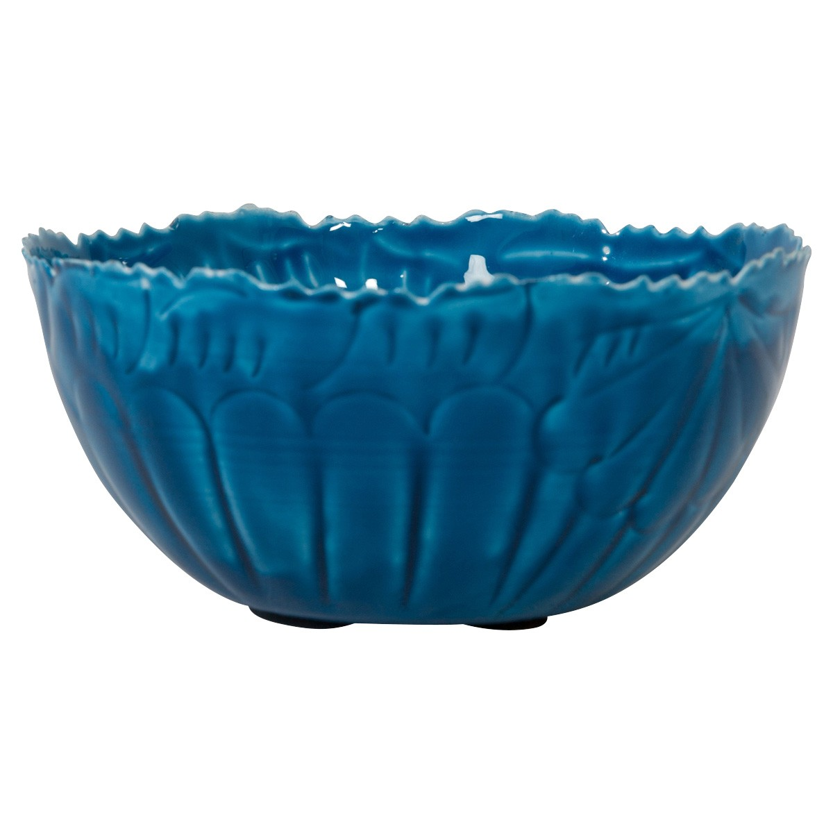 Ameson Enamelled Iron Round Bowl, Extra Small, Blue