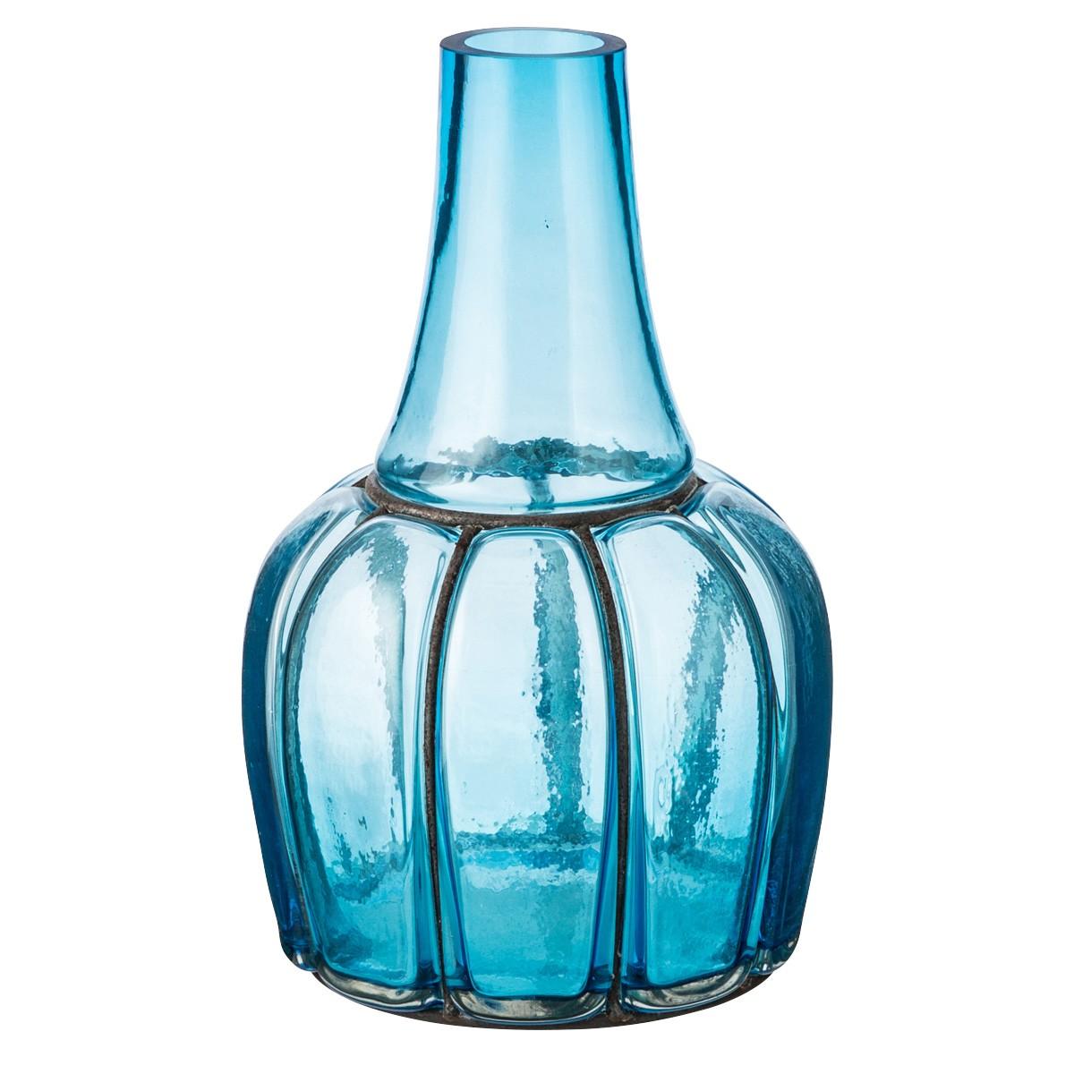 Genie Glass Vase, Medium, Auqa