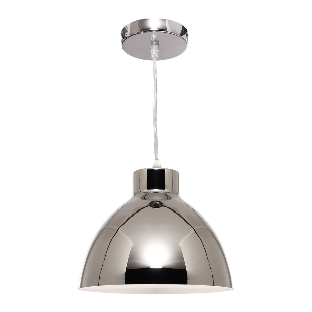 Dome Metal Pendant Lighting, Chrome