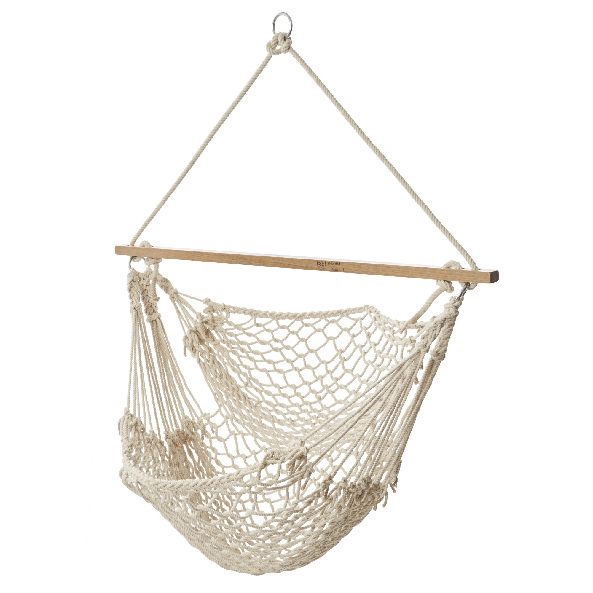Harper Cotton Hammock Chair, Ivory