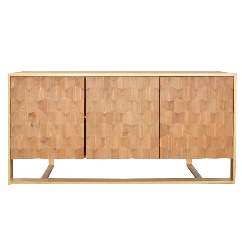 Sachi Reclaimed Fir Timber 3 Door Sideboard, 180cm