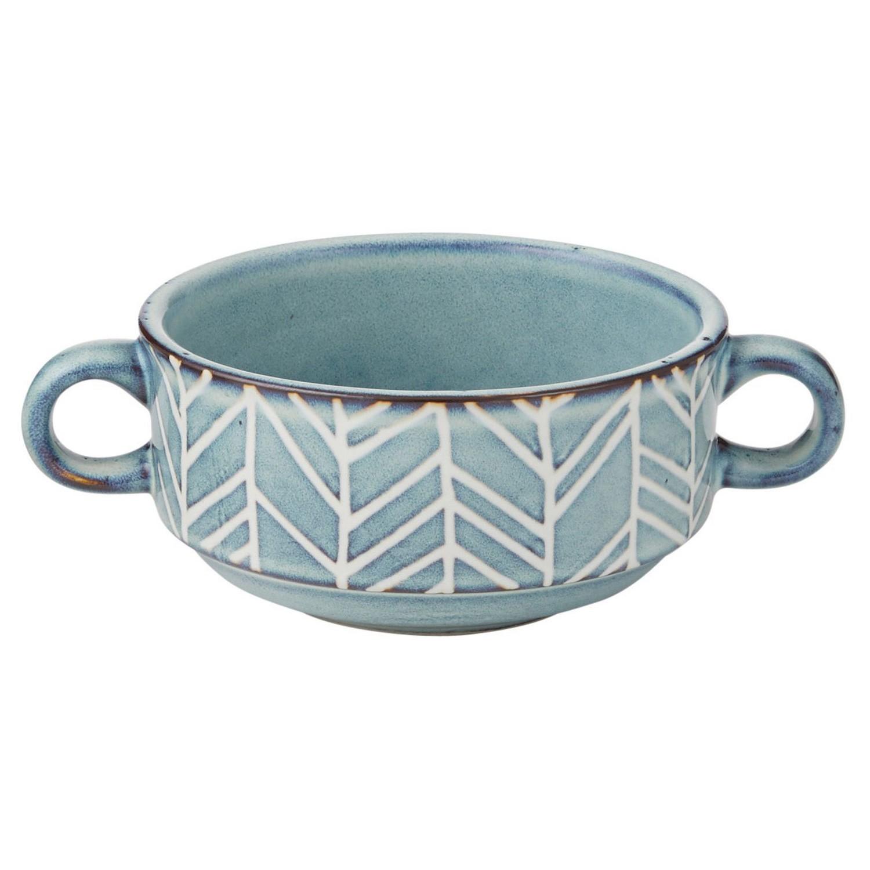 Davis & Waddell Ritual Ceramic Ramekin with Handles, Blue