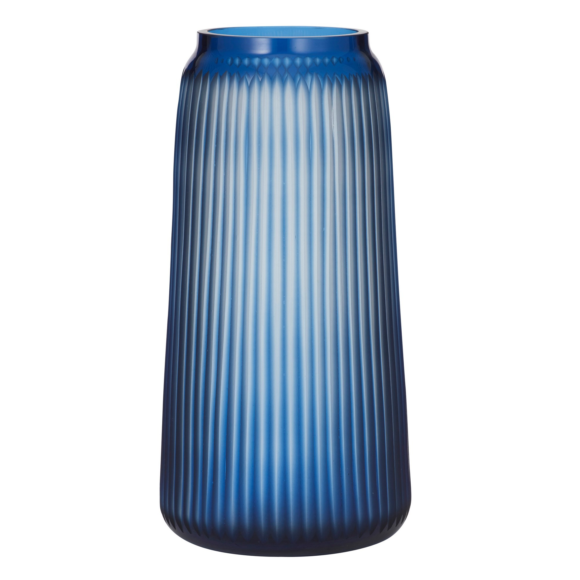 Cora Ribbed Glass Vase, Large