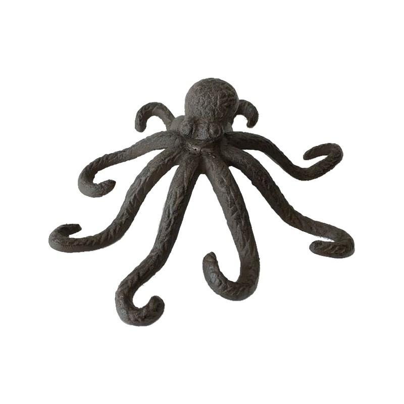 Cast Iron Octopus Figurine