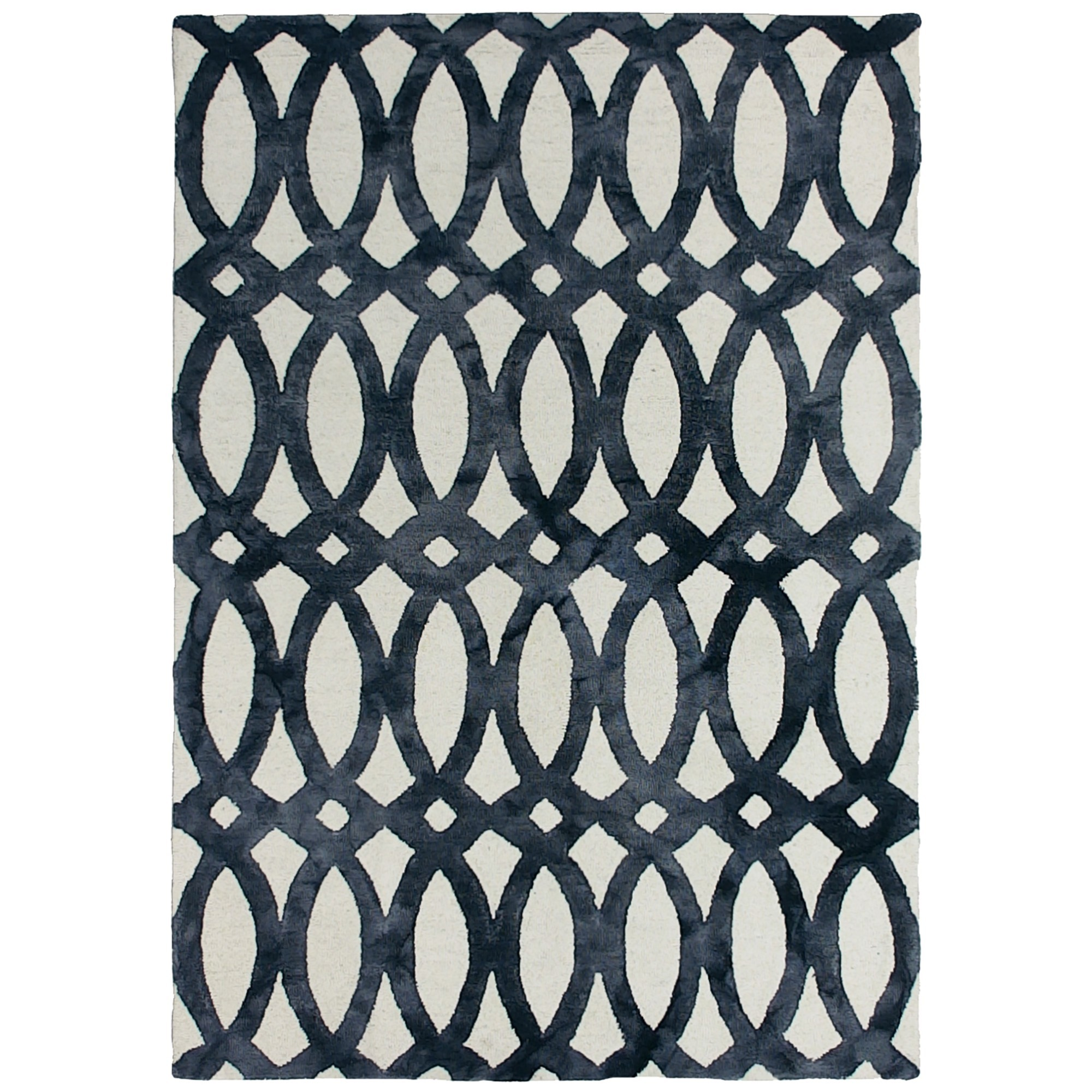 Dip Dye Hand Tufted Wool Rug, 160x230cm, Charcoal