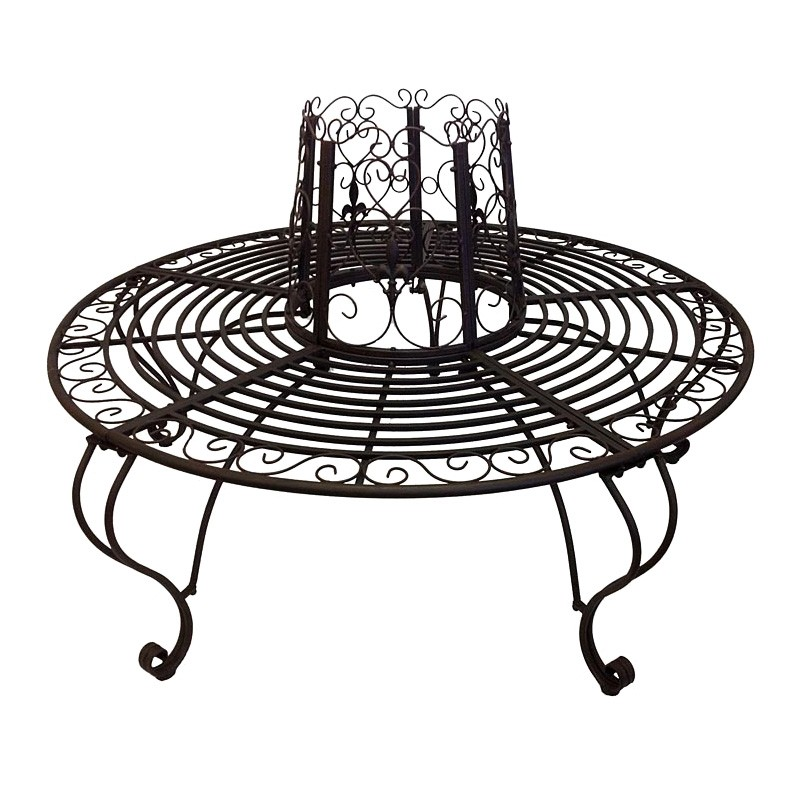 Aldo Iron Round Tree Surround Bench