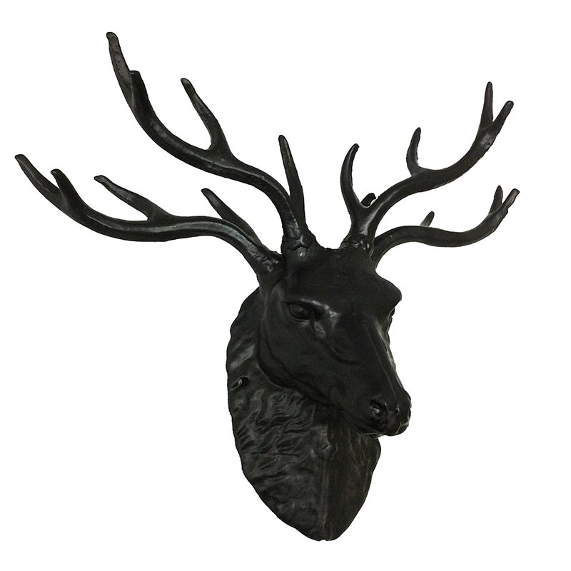Baron Cast Iron Stag Head Wall Sculpture