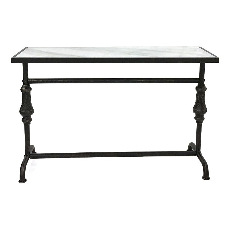 Karen Marble Top Metal Console Table
