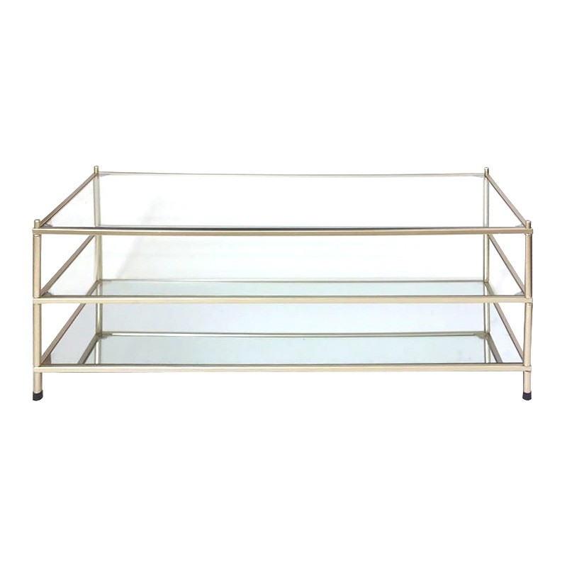 Alisa Glass & Metal Coffee Table, 120cm