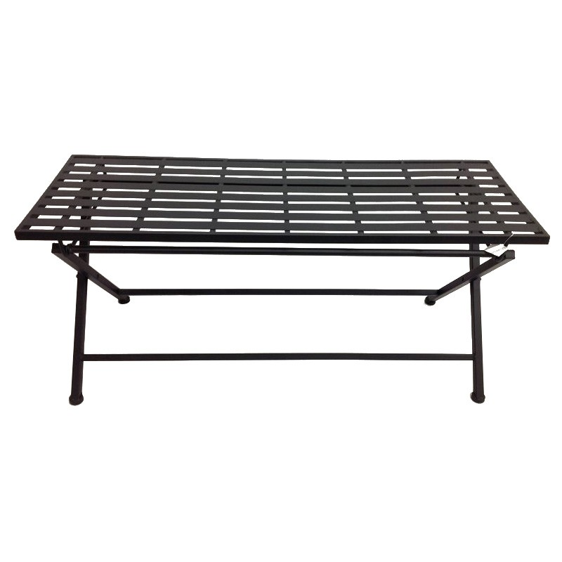 Banksia Metal Garden Coffee Table, 105cm, Black