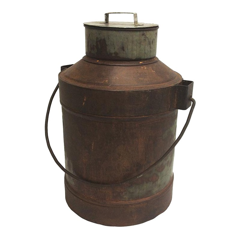 Shannon Rustic Iron Vintage Milk Can
