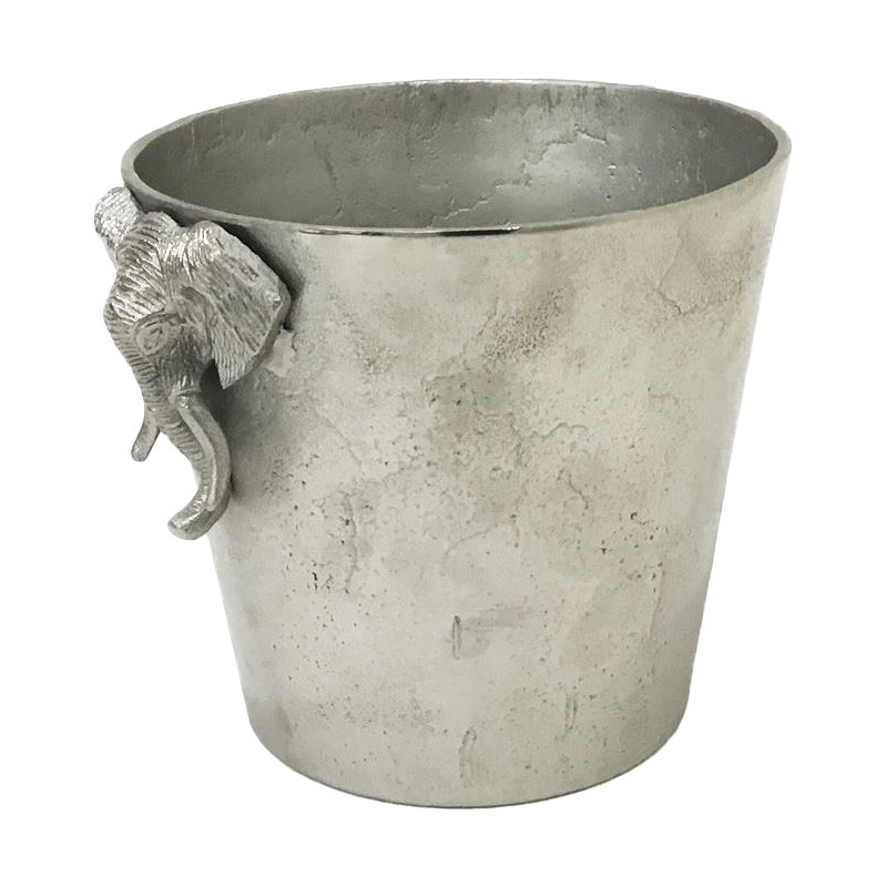 Possolo Aluminium Elephant Handle Ice Bucket