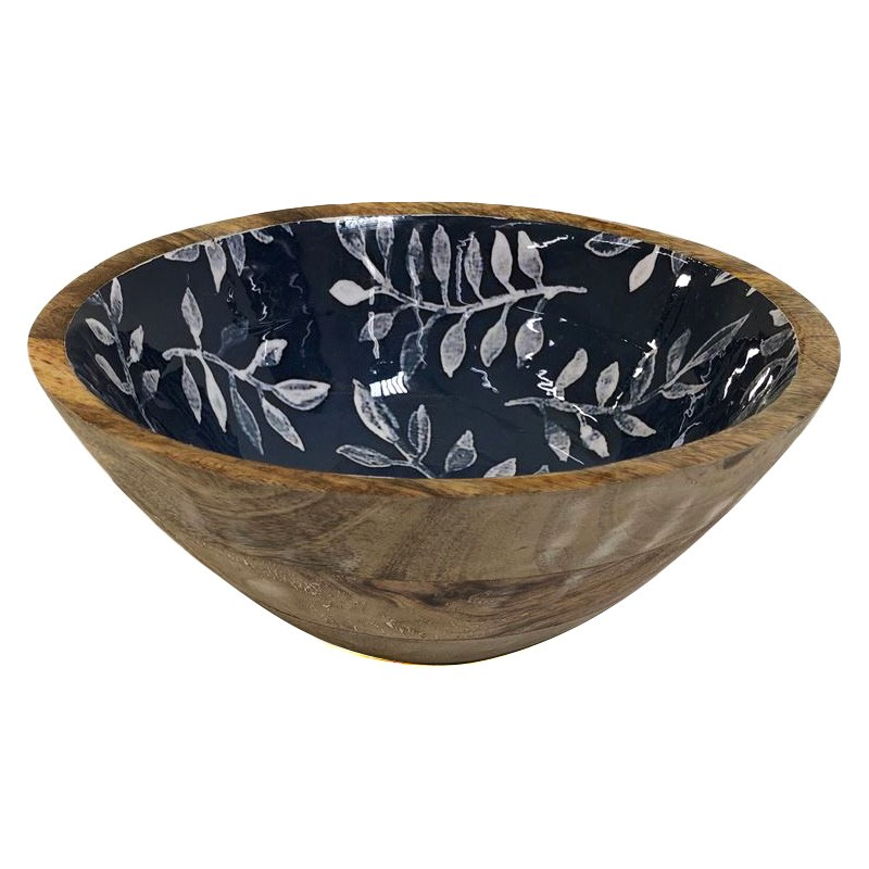 Winston Enamelled Wooden Bowl