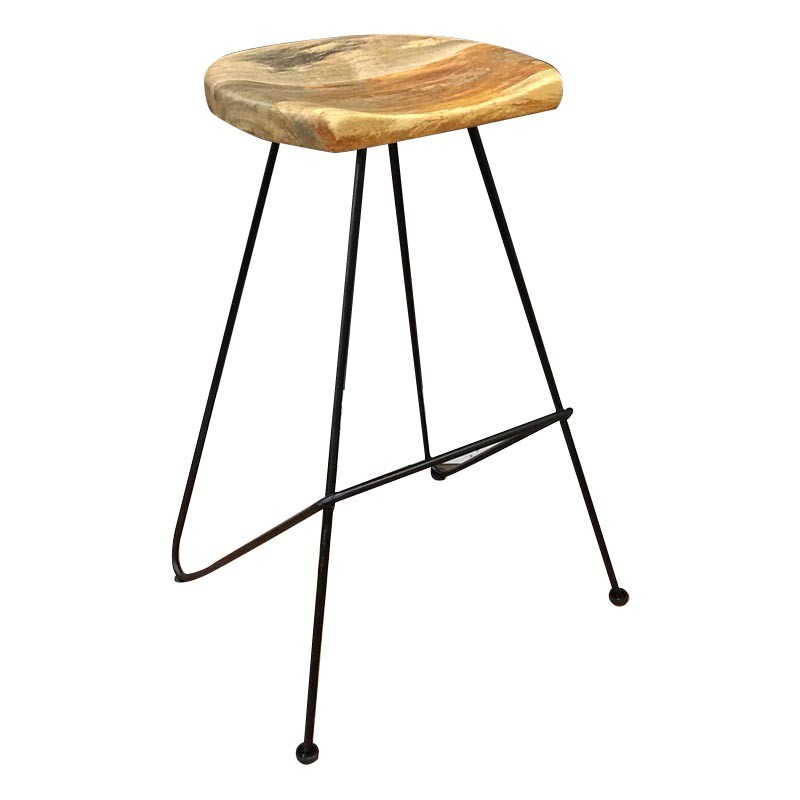 Max Timber & Iron Bar Stool