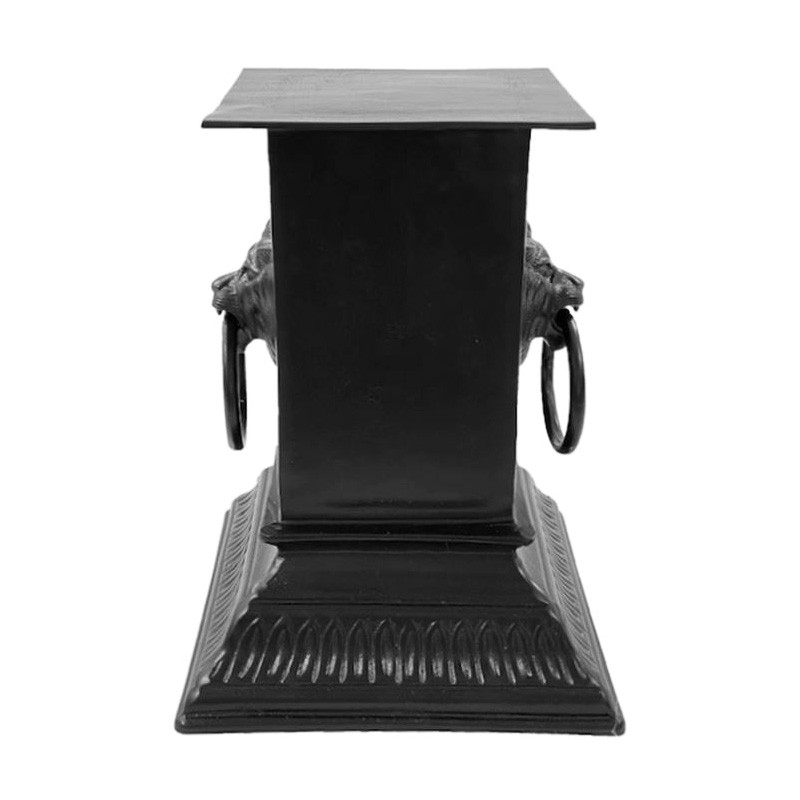 Manor Aluminium Garden Pedestal, Small, Matt Black