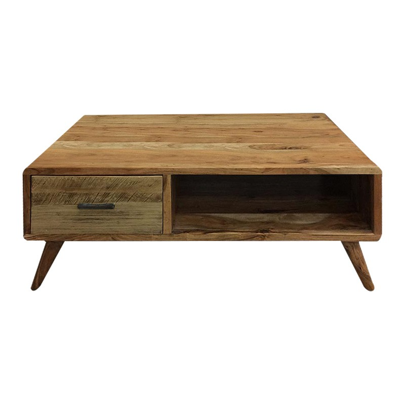Abby Acacia Timber Coffee Table, 118cm