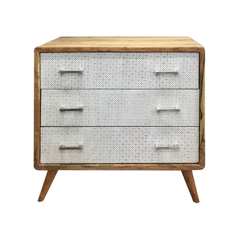 Aaron Wooden 3 Drawer Chest