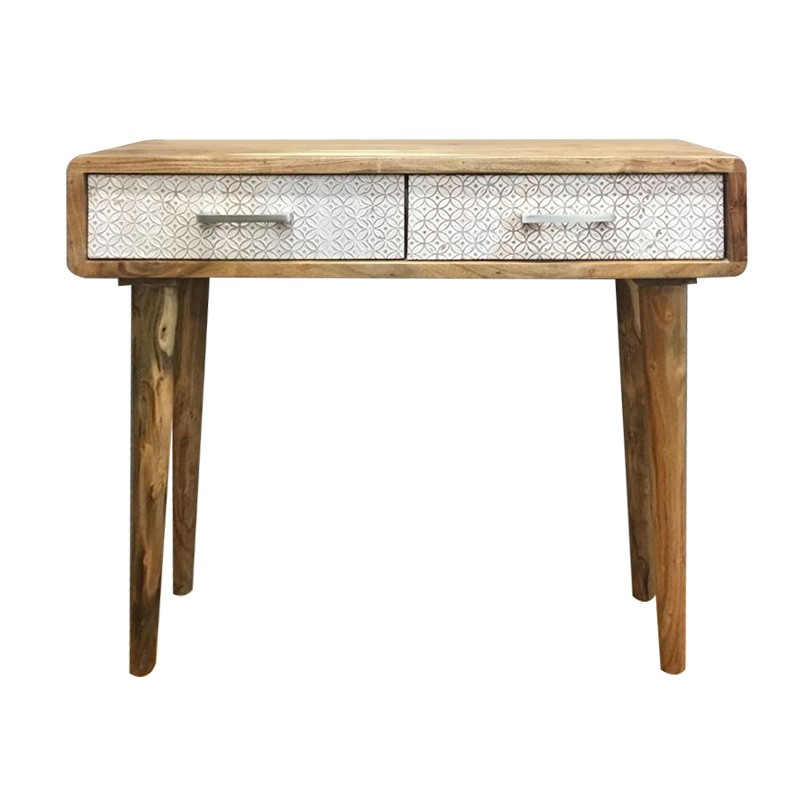 Aaron Wooden 2 Drawer Writing Desk, 90cm