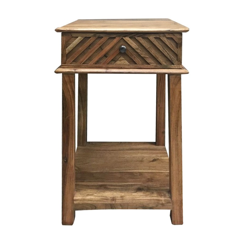 Lucy Acacia Timber Bedside Table