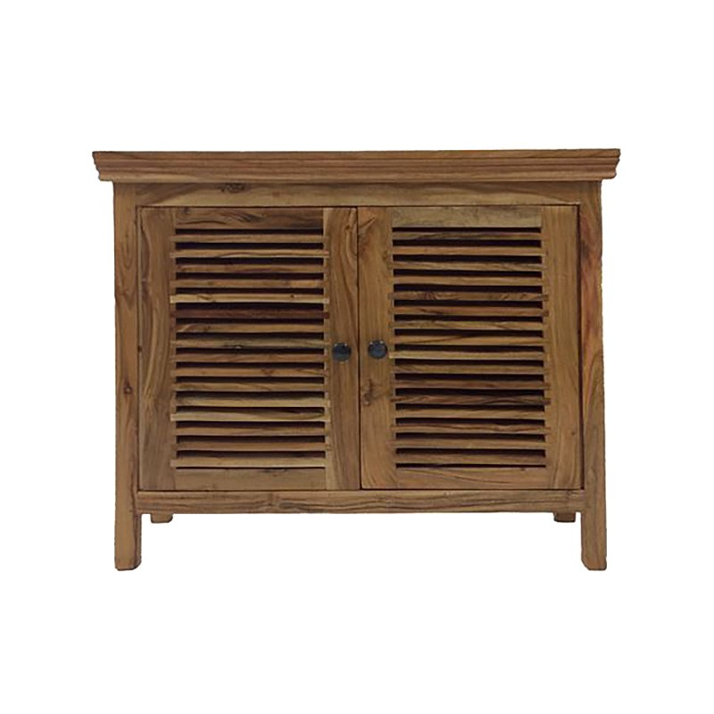 Ashleigh Acacia Timber 2 Door Side Cabinet