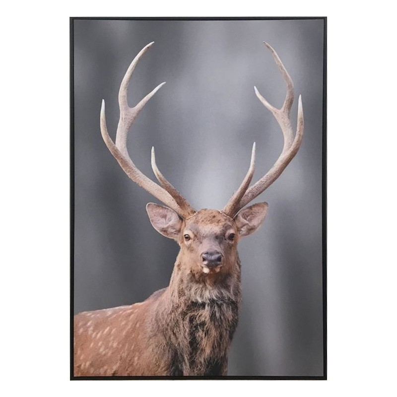 Edward The Deer Framed Canvas Wall Art, 140cm