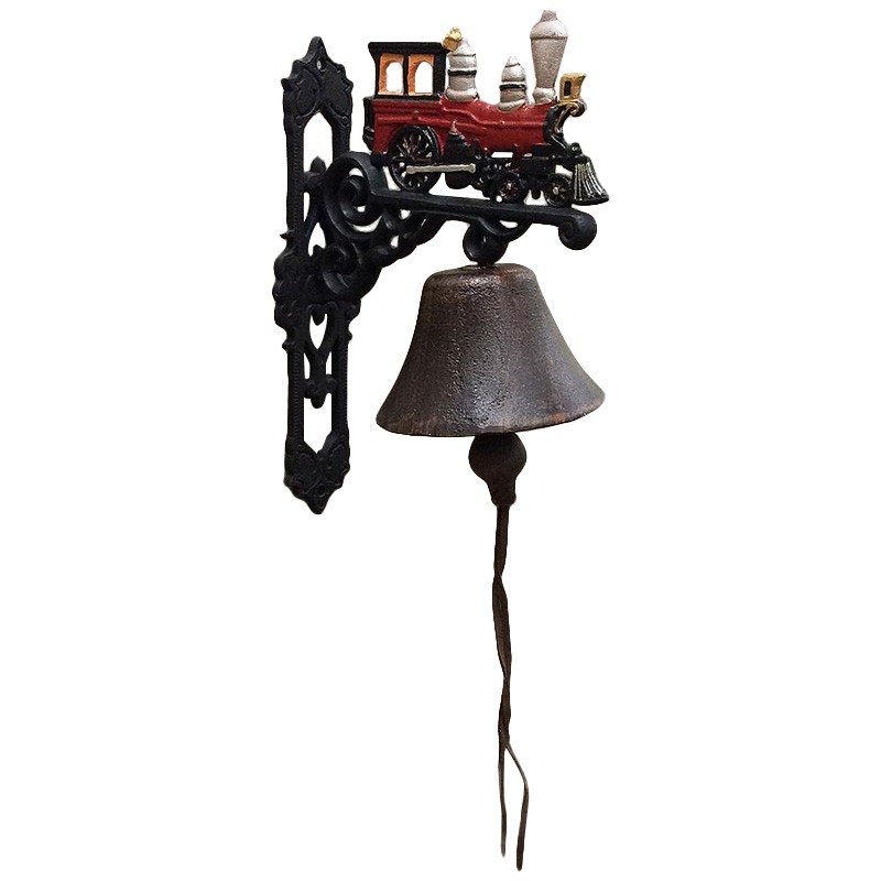 Cast Iron Steam Locomotive Wall Bell