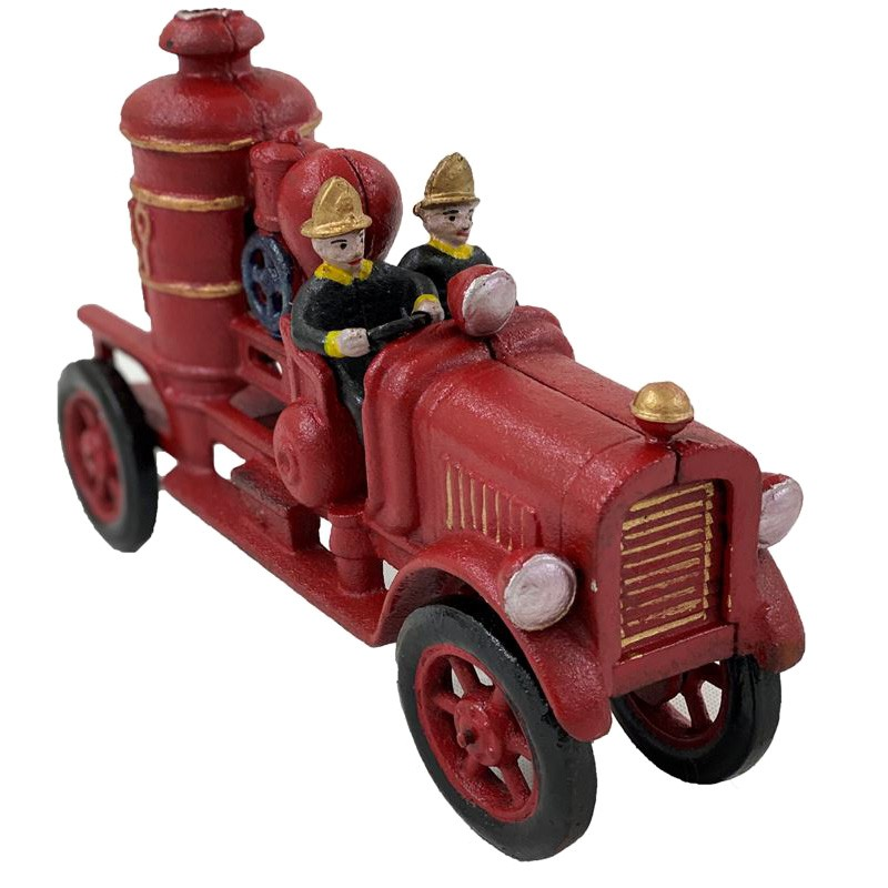 Tazmin Cast Iron Fire Engine Sculpture