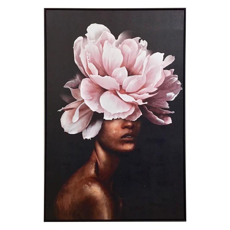 Peony Lady Framed Canvas Wall Art, 120cm