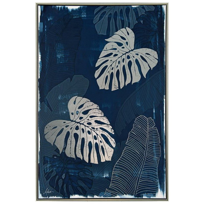 Tropical Leaves Framed Canvas Wall Art, 90cm