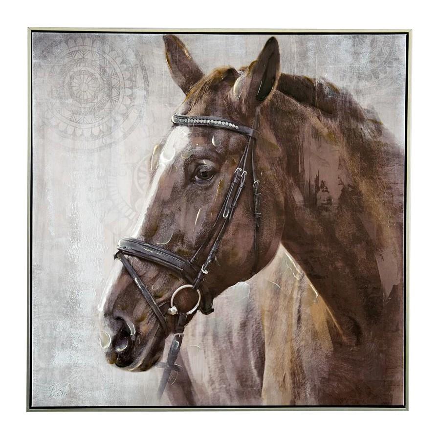 Harriet Horse Framed Canvas Wall Art, 100cm
