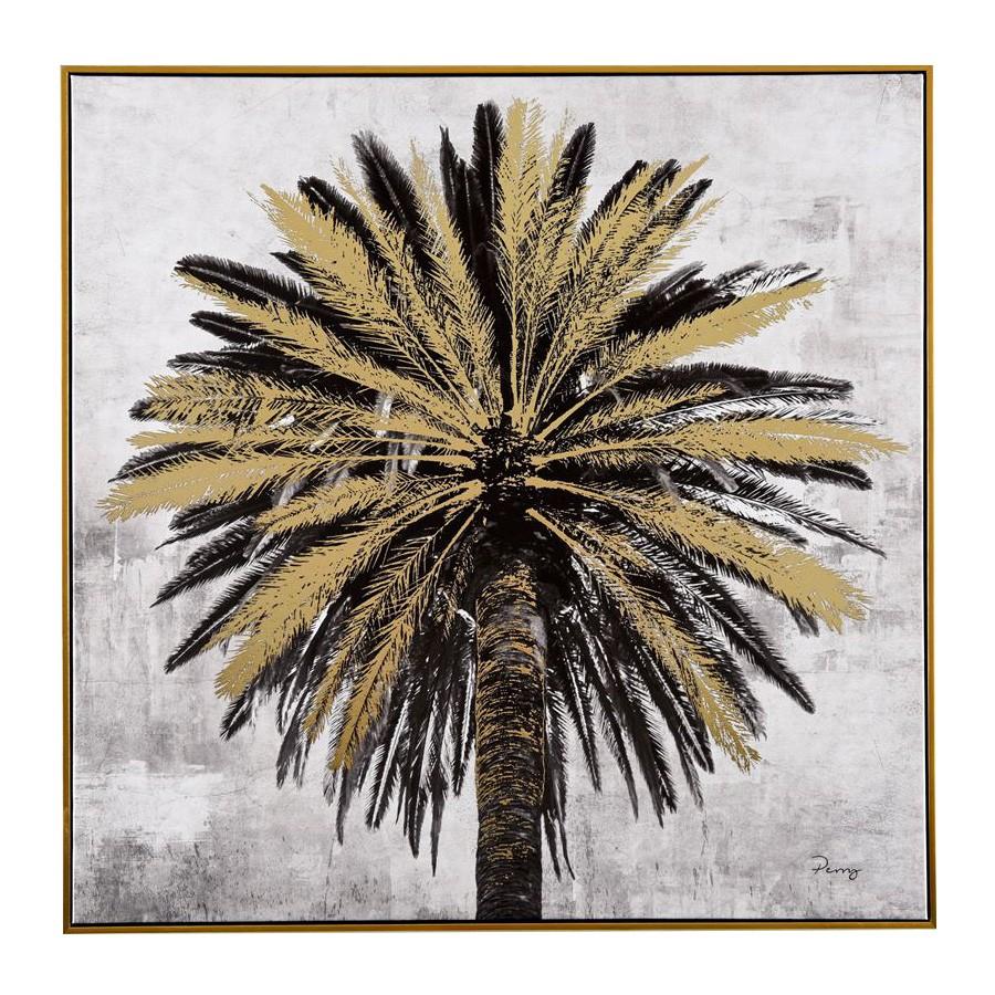 Palm Tree Framed Canvas Wall Art, 80cm