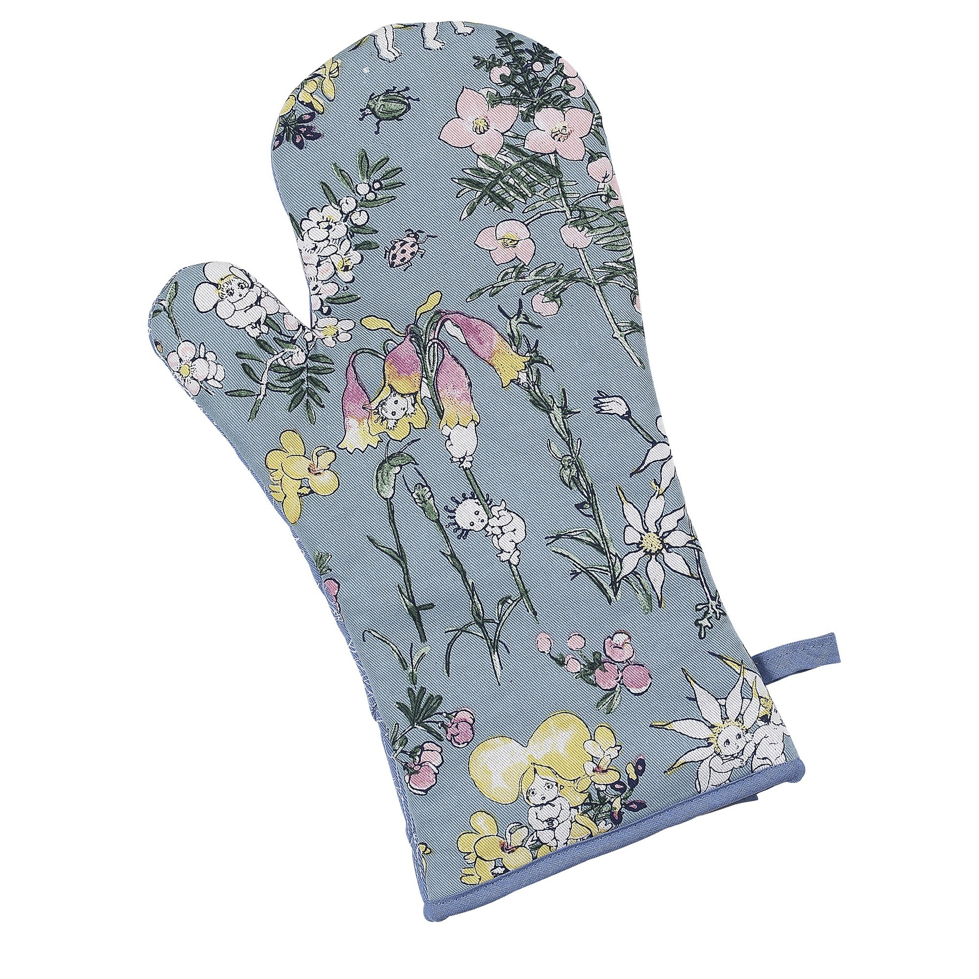 Ecology May Gibbs Flower Babies Cotton Oven Glove, Meadow