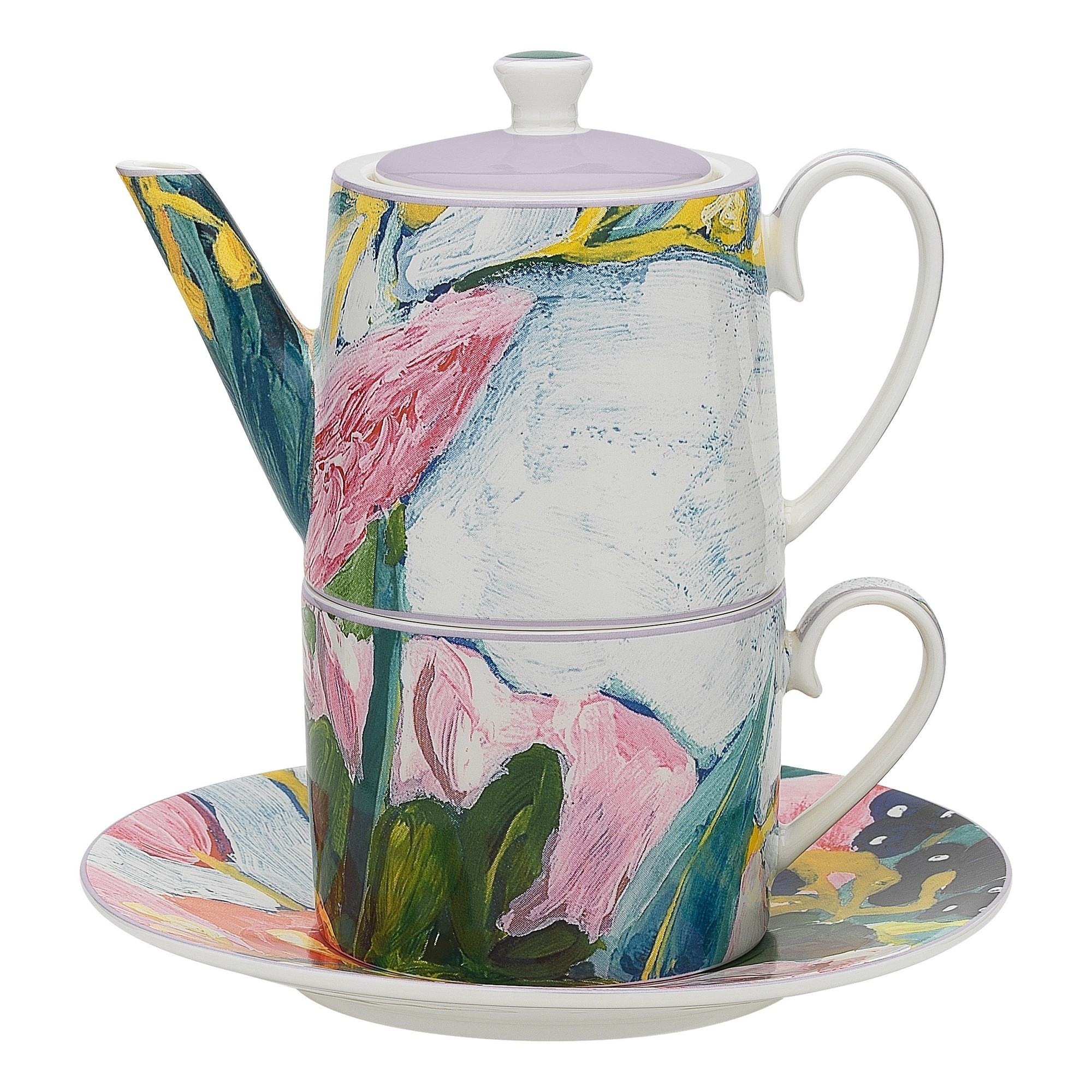 Ecology Bloom New Bone China Tea for One Set