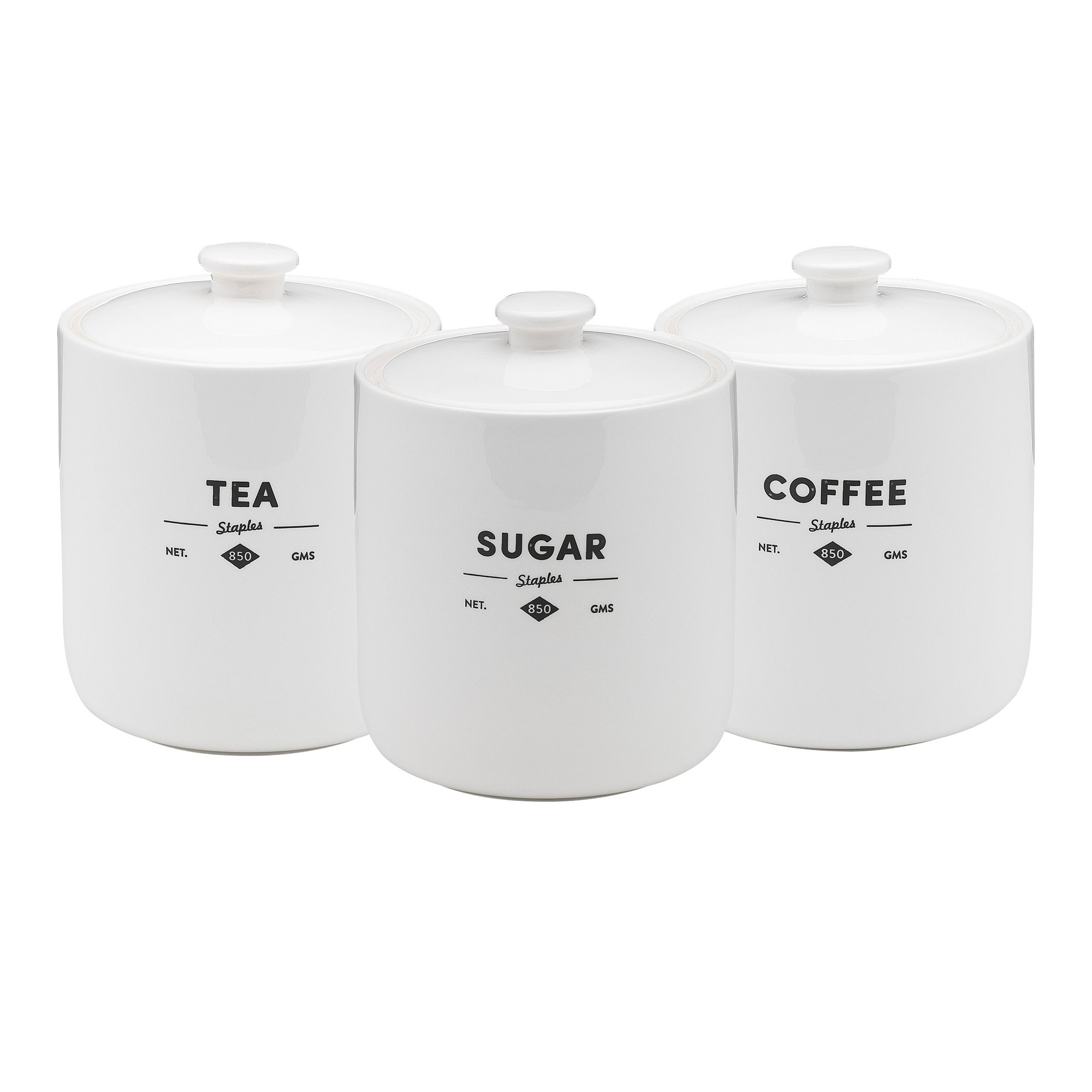 Ecology Staples Foundry Porcelain Canister, Set of 3