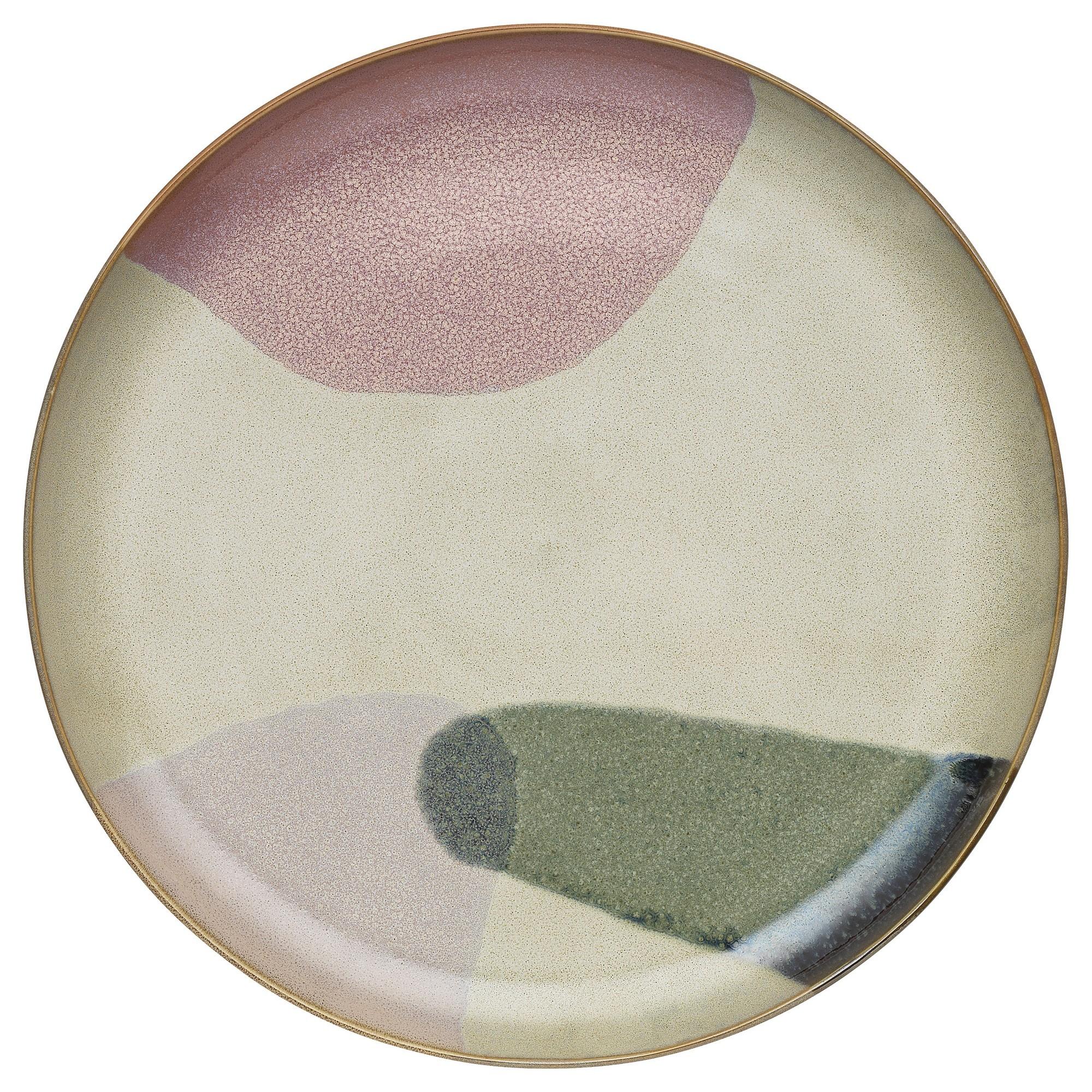 Ecology Canopy Stoneware Round Serving Platter