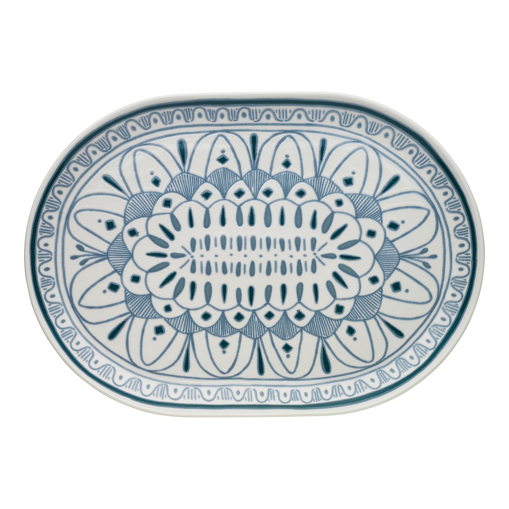 Ecology Oasis Stoneware Oval Platter, Large