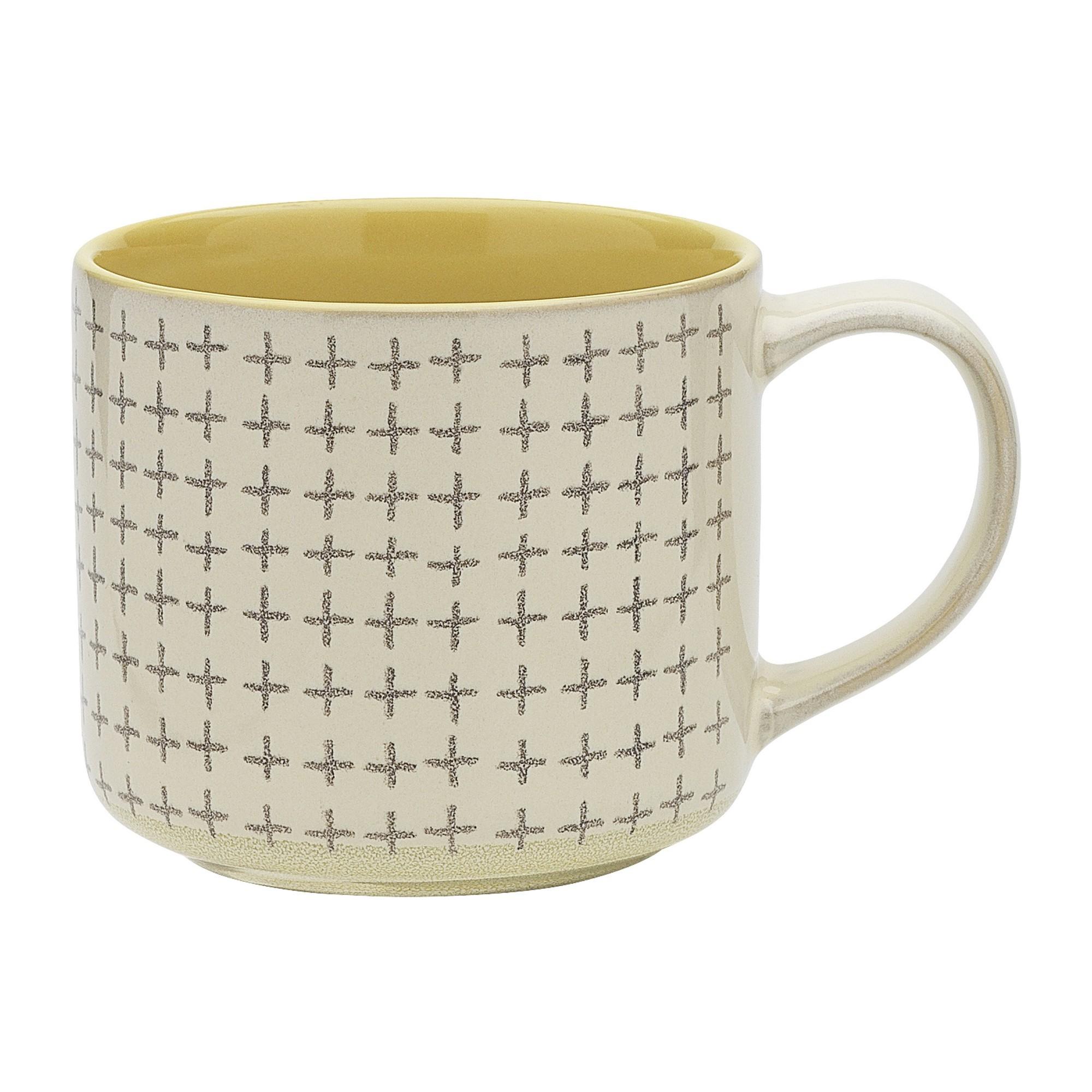 Ecology Carbon Stoneware Mug, Lemon / Cream