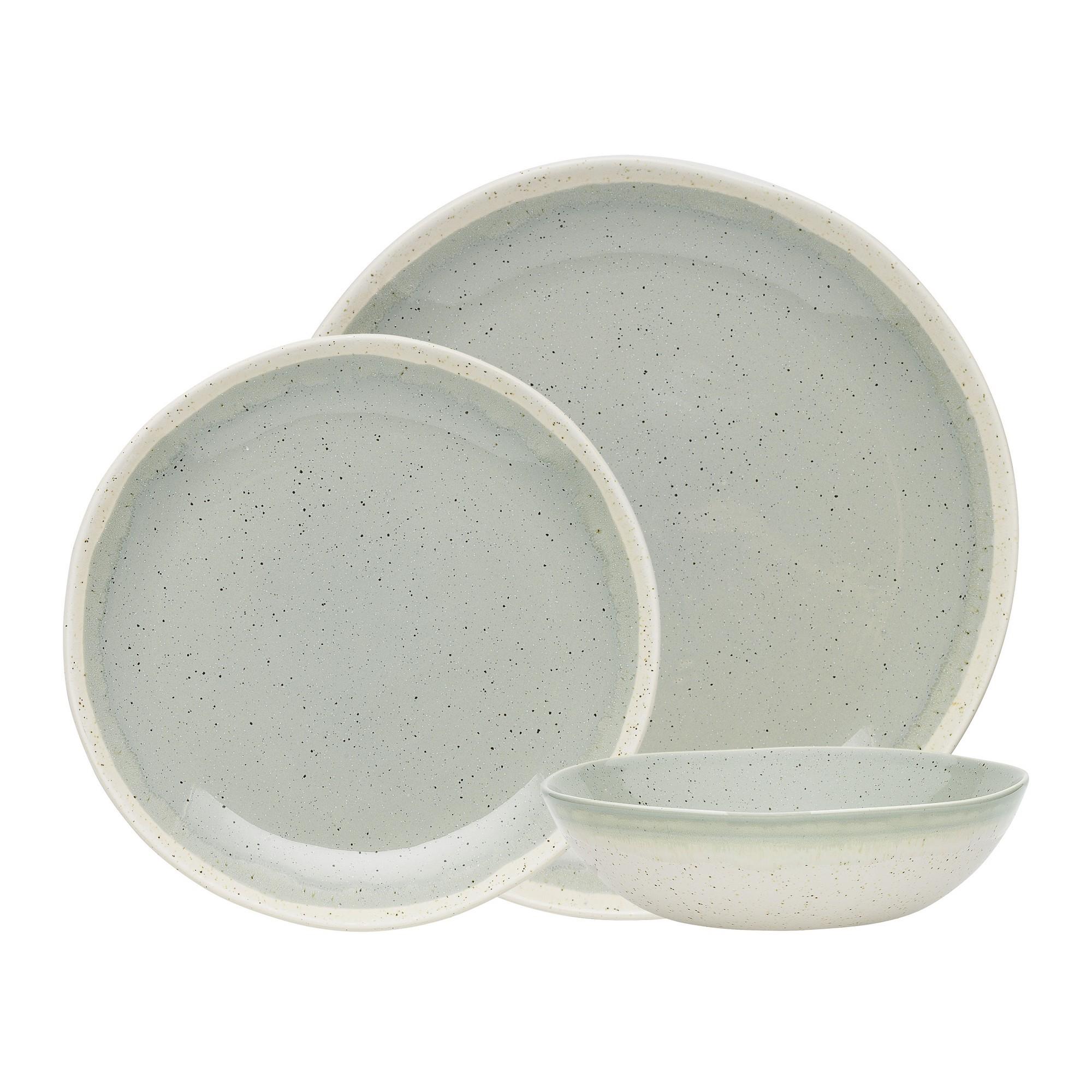 Ecology Dawn 12 Piece Stoneware Dinner Set, Matcha