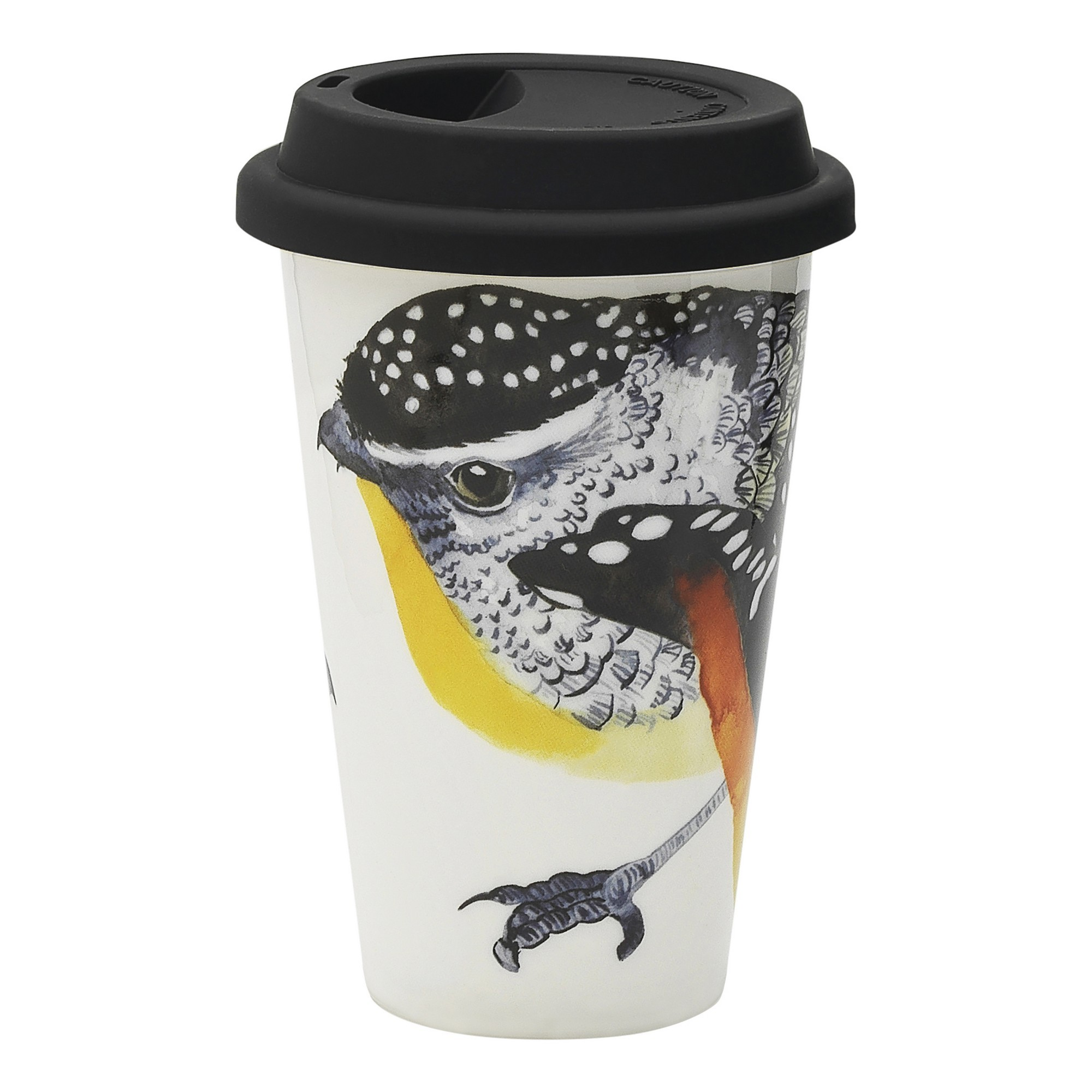 Ecology Paradiso New Bone China Travel Mug, Pardalote