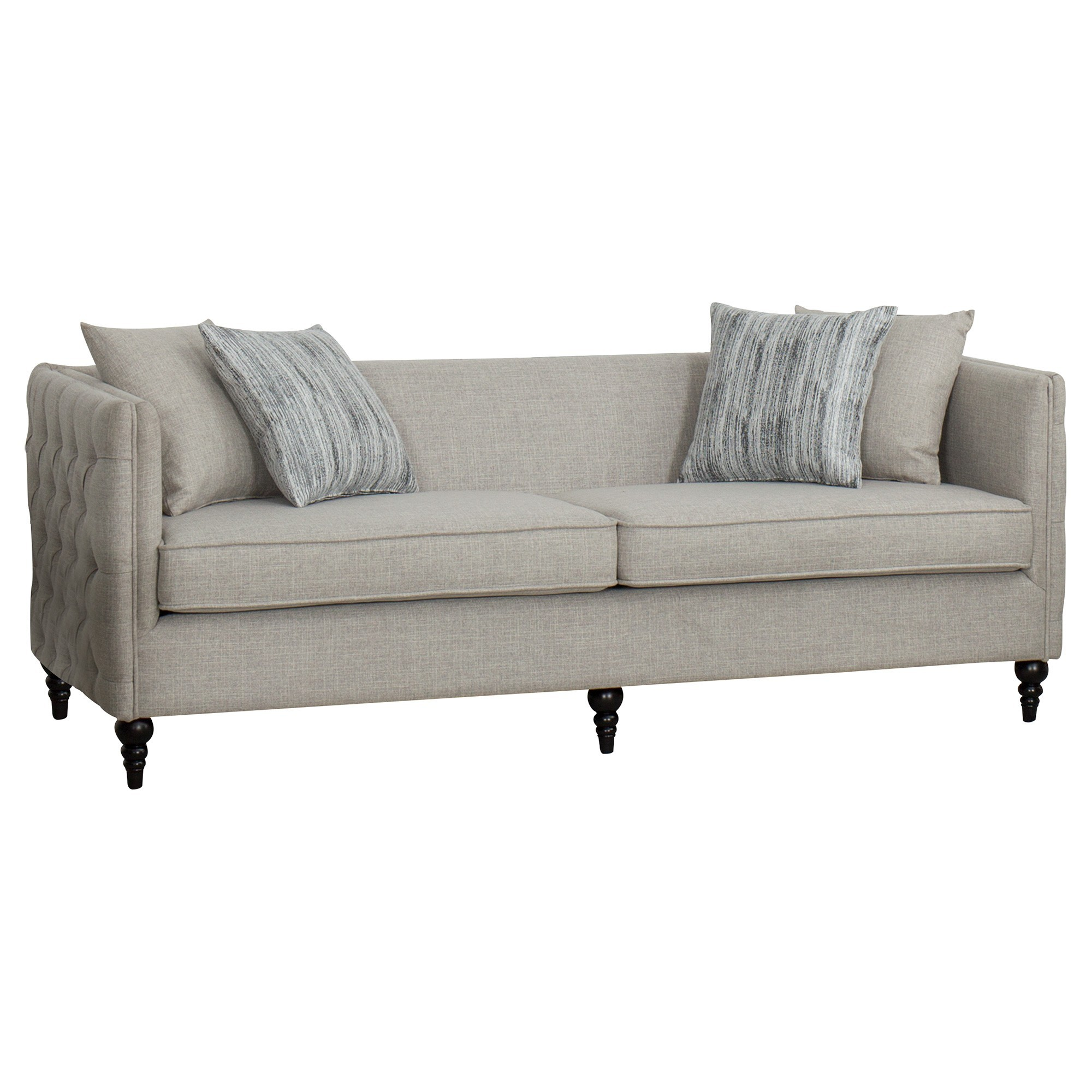 Vitoria Tufted Fabric 3 Seater Sofa