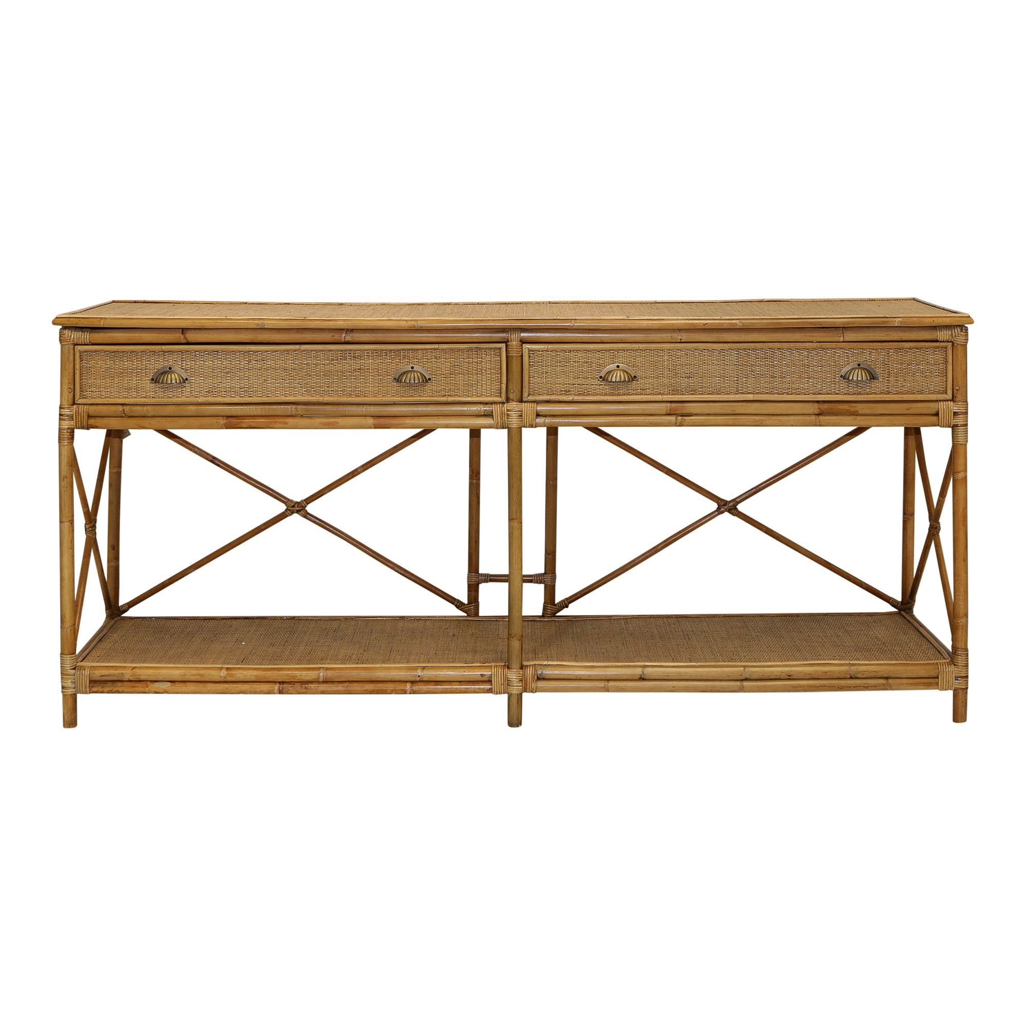 Cayman Rattan Console Table, 192cm